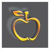 икона яблока Стоковое Изображение RF