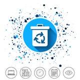 икона ящика рециркулирует Повторно используйте или уменьшите символ Стоковые Фотографии RF
