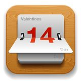 Икона даты календара Стоковое фото RF