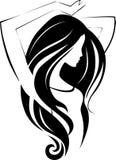 Икона девушки Стоковые Изображения