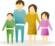 икона 2 семей Стоковые Фотографии RF