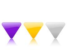 икона 2 цветов триангулярная Стоковые Изображения