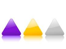 икона 2 цветов триангулярная Стоковое Изображение RF
