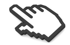 икона 2011 руки Стоковые Изображения RF