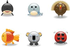 икона 7 животных иллюстрация штока