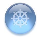 икона aqua Стоковая Фотография