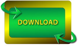 икона download Стоковое Изображение RF