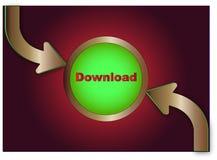 икона download Стоковое Изображение