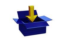 икона download 3d лоснистая Стоковое фото RF
