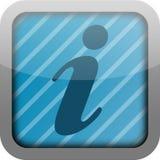 икона info app Стоковые Фотографии RF