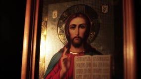 икона jesus christ сток-видео