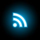 Икона RSS Стоковое фото RF
