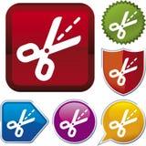 икона scissors серия иллюстрация вектора
