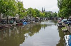 Иконические сцены канала от Амстердама Стоковые Фотографии RF