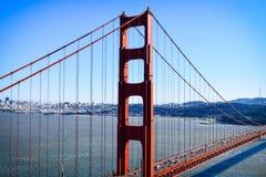 Иконический взгляд моста золотого строба Стоковое Изображение RF