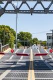 Иконический drawbridge в мистике, Коннектикуте , США стоковые изображения