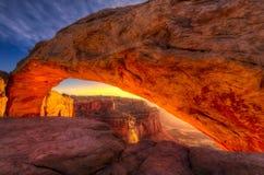 Свод мезы, национальный парк Canyonlands, Юта Стоковые Фотографии RF