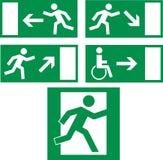 иконы аварийного выхода Стоковые Фотографии RF