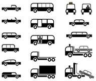 иконы автомобилей установили Стоковая Фотография