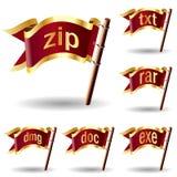 иконы архива выдвижения обжатия архивохранилища Стоковые Фотографии RF