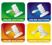 иконы аукциона Стоковое Фото