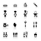 иконы барбекю установили Стоковое Фото