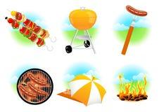 иконы барбекю Стоковое Изображение RF