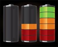 иконы батареи лоснистые Стоковые Фотографии RF