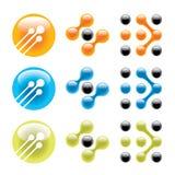 иконы безшовные Стоковое Изображение RF