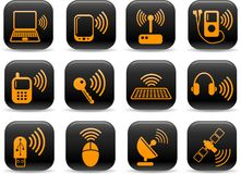 иконы беспроволочные Стоковая Фотография RF
