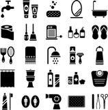 Иконы ванной комнаты Стоковое Изображение