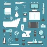 Иконы ванной комнаты иллюстрация вектора