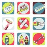 иконы ванной комнаты Стоковые Фотографии RF