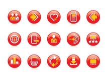 Иконы вебсайта & интернета стоковые фотографии rf