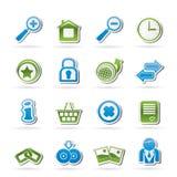 Иконы вебсайта и интернета Стоковые Фотографии RF