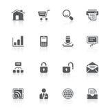 Иконы вебсайта иллюстрация штока