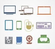 Иконы вещества цифров Стоковая Фотография