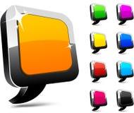 иконы воздушного шара 3d Стоковые Изображения