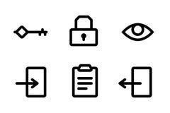 иконы входа Стоковые Изображения RF