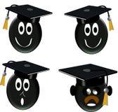 иконы выпускника типа 3d Стоковые Фотографии RF