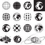 Иконы глобуса Стоковые Изображения