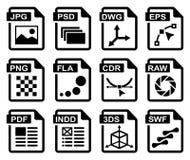 иконы графика конструкции Стоковая Фотография