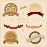 иконы графика собрания знамени Стоковые Фотографии RF