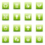 иконы графиков зеленые Стоковые Изображения RF