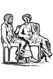 иконы Греции еды Стоковое Изображение RF