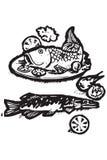 иконы Греции еды Стоковые Изображения RF
