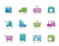 иконы груза грузя перевозку хранения Стоковые Изображения