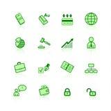 иконы дела зеленые Стоковая Фотография RF
