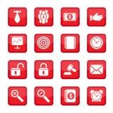 Иконы дела установленные Стоковое фото RF