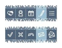 иконы дела штанги Стоковое Изображение RF